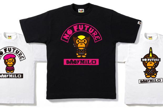 "bf4078f76 A Bathing Ape Baby Milo ""No Future"" T-shirt Collection | Rudeboyy.com"