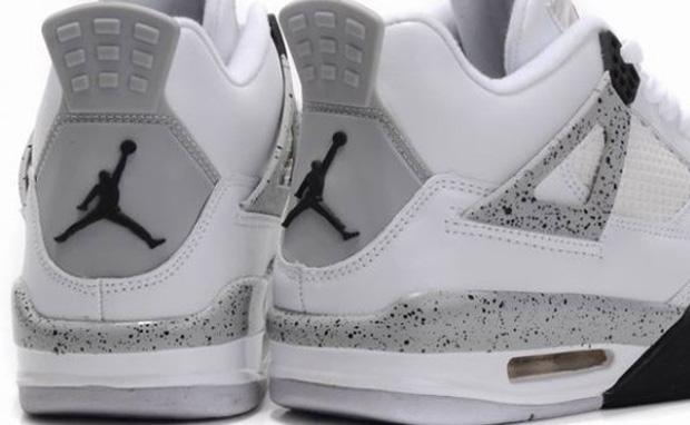 189b85e28fb Air Jordan 4 White/Cement Gray   Rudeboyy.com