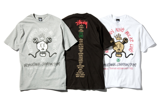 65cbce4824d0 Stussy x Mighty Crown x Nine Rulaz Line T-Shirt | Rudeboyy.com