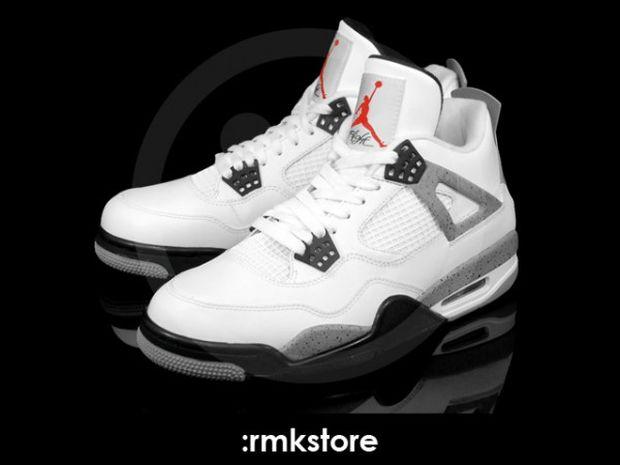huge discount 9d67e 0dea8 Air Jordan 4 Retro White   Black – Cement Grey
