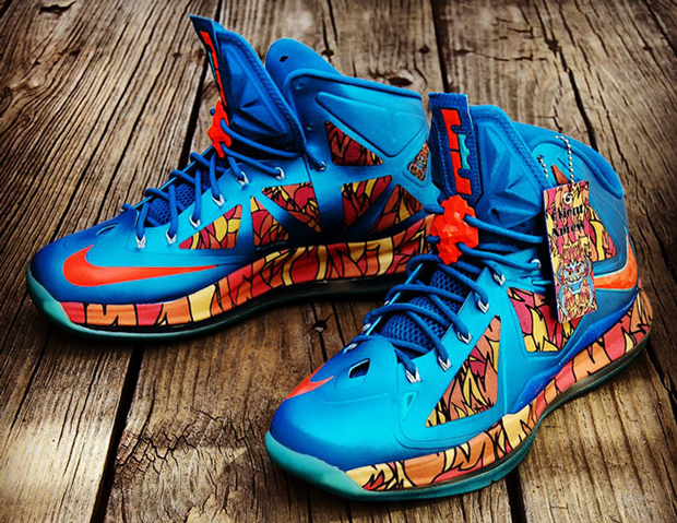 "cfe467a4463 Nike LeBron X ""Orient Xpress"" Custom"