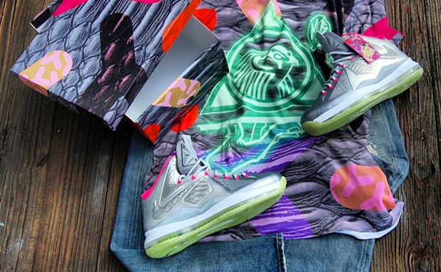 "e98cca3995d Nike LeBron X ""Platinum"" Yeezy Inspired Custom"