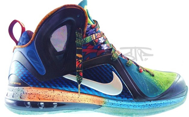 "free shipping f5985 0acda Nike LeBron 9 Elite ""What the LeBron"" Custom"