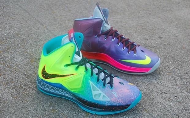 """0f509420050 Nike LeBron X """"What the LeBron"""" Custom"""