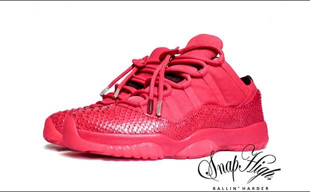"""Air Jordan 11 Low """"Red October"""" Custom"""