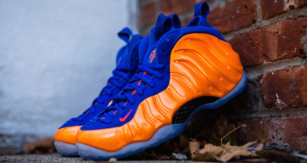 90eb7a5cc68 The New York Knicks Nike Air Foamposite One is a little over a week away.  Sporting a vibrant crimson hue about its signature wavy build
