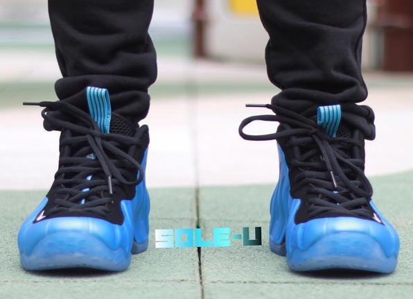 sports shoes 15219 b99d5 ... spain nike foamposite one university blue on feet 1 20904 07d70 ...