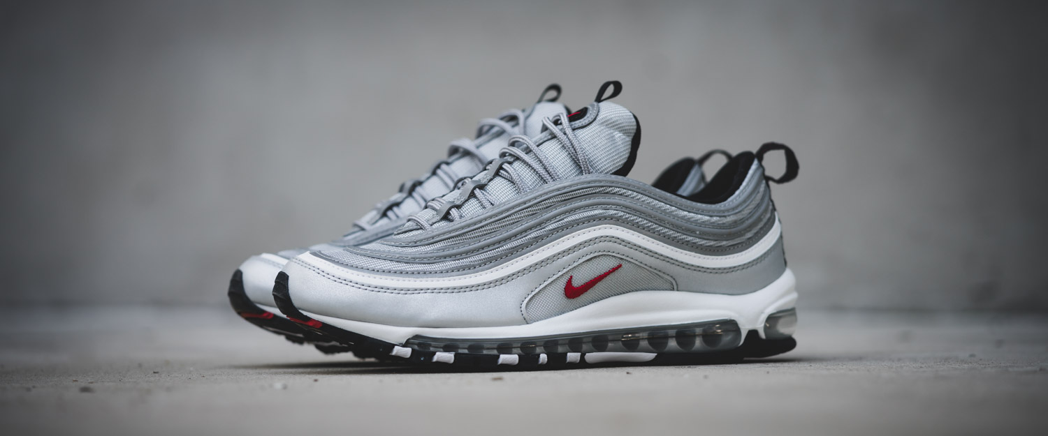 nike sportswear air max 97 og qs metallic silver red