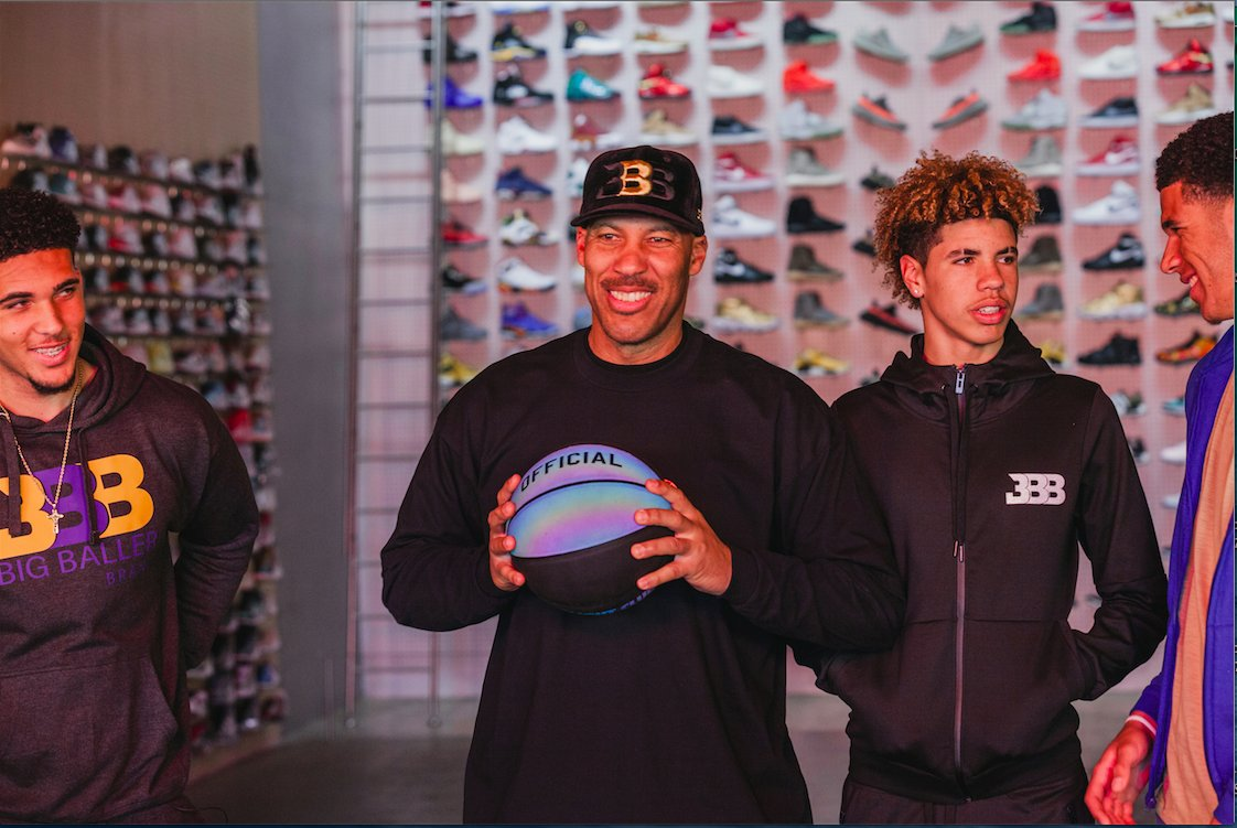 The Ball Family Goes Sneaker Shopping