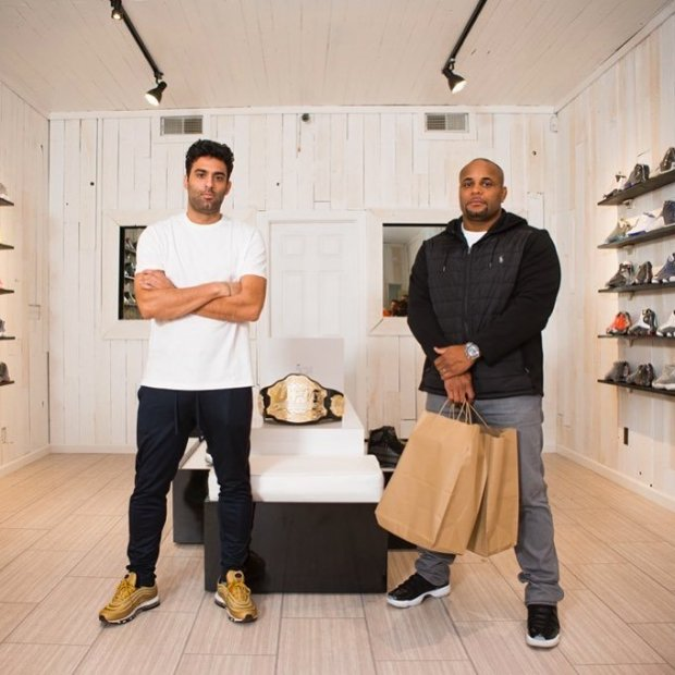 c10a5e45e752 UFC Champion Daniel Cormier goes Sneaker Shopping with Joe La Puma at Sole  on Ice in San Jose and talks about having the best sneakers in the UFC and  his ...