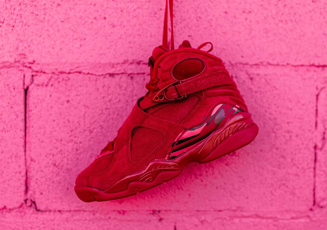 on sale 46347 26fe1 valentines-day-air-jordan-8-retro-red-suede-2 | Rudeboyy.com