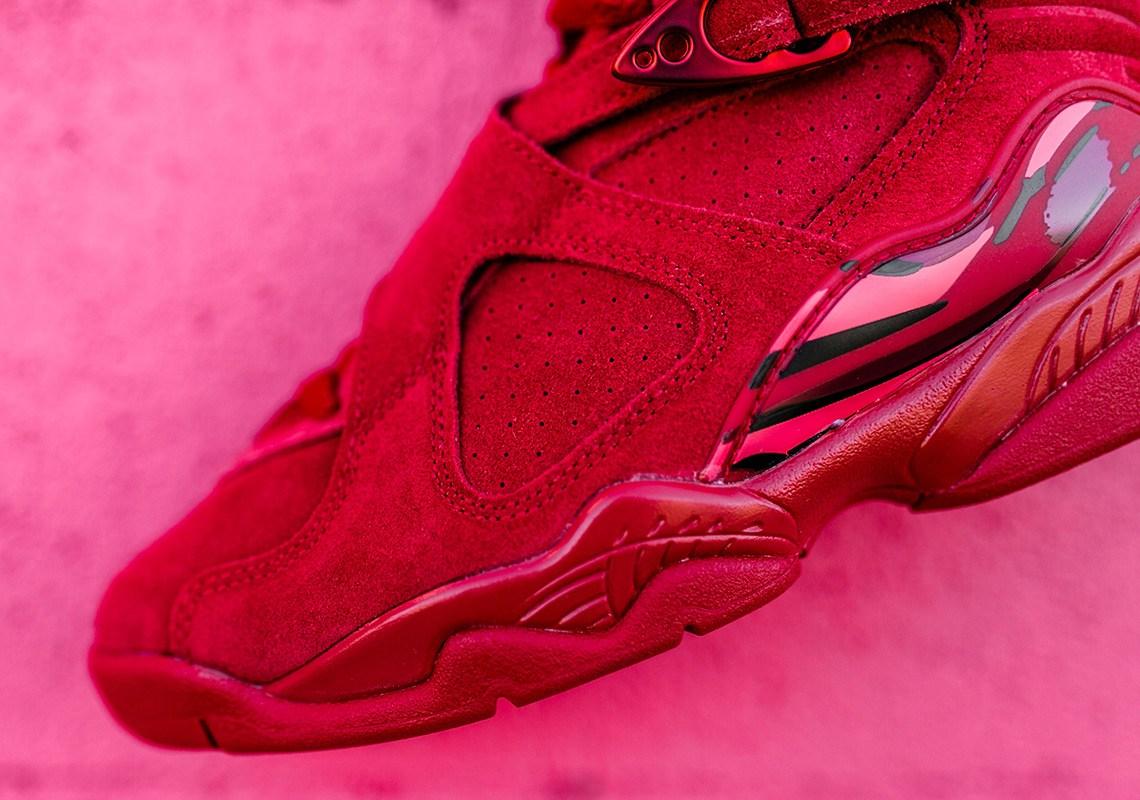 sale retailer 589b9 770fc valentines-day-air-jordan-8-retro-red-suede-3 | Rudeboyy.com