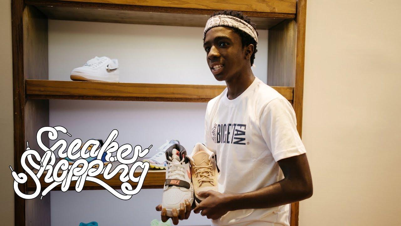 caleb mclaughlin sneaker shopping